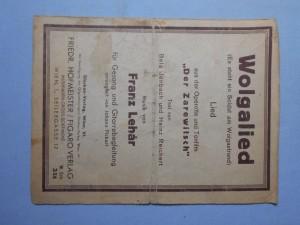 náhled knihy - Wolgalied : Aus der operette Der Zarewitsch von ela Jenbach und Heinz Rechert