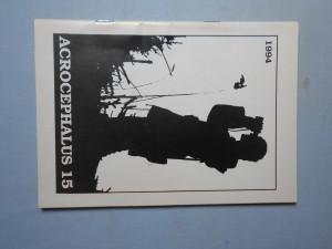 náhled knihy - Acrocephalus (Ostrava) 15: Zpravodaj Slezské ornitologické společnosti (S.O.S.)