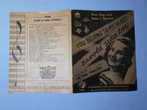 náhled knihy - Zavolá srdce tvé You belong to my heart : Píseň z filmu Belita tančí, Three caballeros