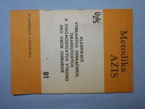 náhled knihy - Klasifikace vybraných operačních, terapeutických a diagnostických výkonů pro obor chirurgie
