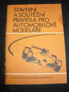 náhled knihy - Stavební a Soutěžní Pravidla Pro Automobilové Modeláře