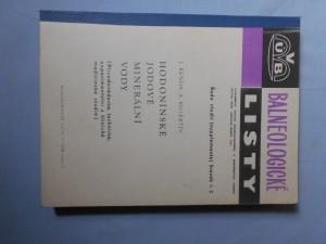 náhled knihy - Hodonínské jodové minerální vody : Přírodovědecké, technické, experimentální a klinické medicinské studie