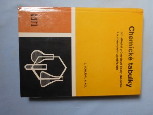 náhled knihy - Chemické tabulky pro střední průmyslové školy chemické a s chemickým zaměřením