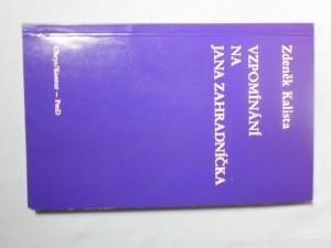 náhled knihy - Vzpomínání na Jana Zahradníčka