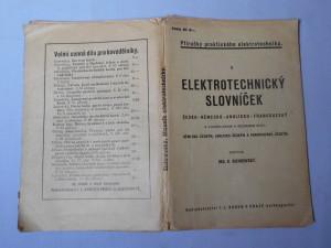 náhled knihy - Elektotechnický slovníček česko-německo-anglicko-francouzský : S vysvětlivkami a seznamem slov: německo-českým, anglicko-českým a francouzsko-českým