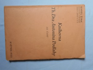 náhled knihy - 5. seznam skladu : Knihovna Th. Dra Antonína Podlahy. III. část