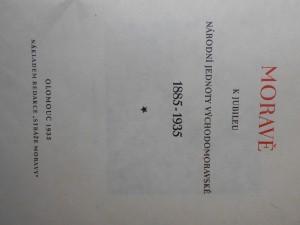 náhled knihy - Moravě k jubileu Národní jednoty východomoravské 1885 - 1935