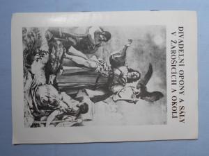 náhled knihy - Divadelní opony a sály v Žarošicích a okolí