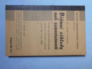 náhled knihy - Dějinné základy naší samostatnosti : projev na Staroměstském náměstí v Praze v předvečer 28. října 1933
