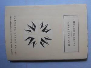 náhled knihy - Homérské hymny ; Válka žab a myší