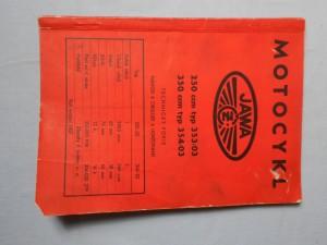 náhled knihy - Motocykl Jawa 250 ccm typ 353/03, 350 ccm354/03 : Technický popis, Návod k obsluze a udržování