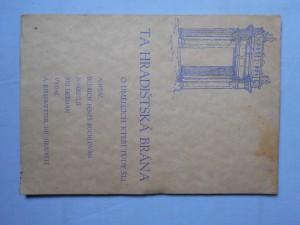náhled knihy - Ta hradištská brána : O umělcích, kteří tudy šli
