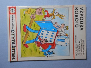náhled knihy - Čtyřlístek : Vzpoura robotů č. 87.
