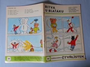 náhled knihy - Čtyřlístek : Bitva u blaťáku č. 81.