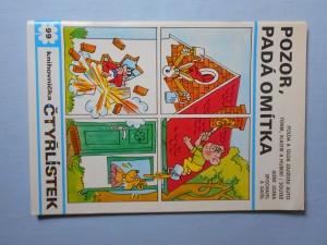náhled knihy - Čtyřlístek : Pozor, padá omítka č. 99.