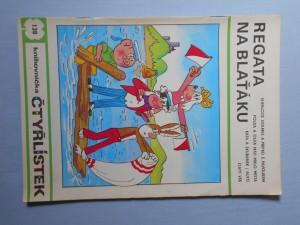 náhled knihy - Čtyřlístek : Regata na blaťáku č. 128.