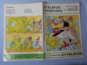 náhled knihy - Čtyřlístek : O zlatou harpunu č. 133.