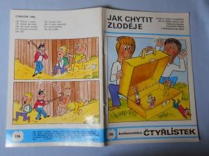náhled knihy - Čtyřlístek : Jak chytit zloděje č. 136.