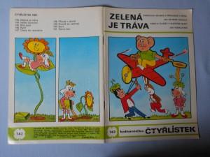 náhled knihy - Čtyřlístek : Zelená je tráva č. 143.