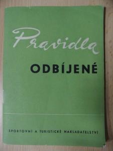 náhled knihy - Pravidla odbíjené (platná od 1. ledna 1963)