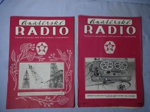 náhled knihy - Amatérské radio, časopis svazu pro spolupráci s armádou, číslo 11., 12., ročník VI, 1957