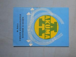 náhled knihy - Akuma : Návod k obsluze startovacích baterií typu N