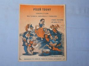 náhled knihy - Píseň touhy : Písnička k filmu Walt Disneye Sněhurka a 7 trpaslíků