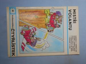 náhled knihy - Čtyřlístek : Mistři volantu č. 91.