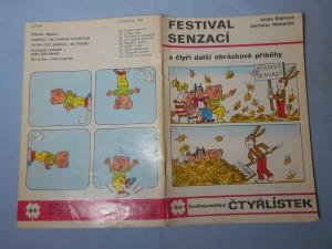 náhled knihy - Čtyřlístek : Festival senzací č. 64.