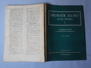náhled knihy - Sborník sluko Acta sluko I 1951 - 1953