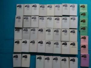náhled knihy - Antická knihovna,  45 titulů. HOMÉRŠTÍ HRDINOVÉ VE VZPOMÍNKÁCH VĒKŮ TAJEMSTVÍ PAPYRÜ CLAUDIANUS UNOS PROSERPINY MARCUS AURELIUS HOVORY K SOBĚ LÚKÁNOS ŠLEHY A ÚSMĚVY XENOFÓN O KÝROVÉ VYCHOVÁNÍ CICERO O POVINNOSTECH VERGILIUS AENEIS LISTY HETÉR PETRONIUS SATIRIKON EPIKTETOS RUKOJET ROZPRAVY LIVIUS DĖJINY TITUS LUCRETIUS CARUS O PŘÍRODE IUVENALIS SATIRY ARRIÁNOS TAŽENÍ ALEXANDRA VELIKÉHO XENOFÓN VZPOMÍNKY NA SÓKRATA GAIUS IULIUS CAESAR VÁLEČNÉ PAMĚTI LIVIUS DĚJINY ||-|||| PĒVCI LÁSKY PLINIUS STARŠÍ KAPITOLY O PŘÍRODĚ PAUSANIAS CESTA PO ŘECKU I LIVIUS DĖJINY IV|| APULEIUS ZLATY OSEL| PAUSANIÁS CESTA PO ŘECKU II SUETONIUS ŽIVOTOPISY, OVIDIUS PROMĚNY ARTEMIDÓROS SNÁŘ TACITUS LETOPISY LIVIUS DĖJINY V SOFOKLÉS TRAGÉDIE HÉRÓDIANOS RÍM PO MARKU AURELIOVI TACITUS Z DĚJIN CÍSAŘSKÉHO ŘÍMA| CICERO TUSKULSKÉ HOVORY LUCANUS FARSALSKÉ POLE LIVIUS DĒJINY VI| SVĚT EZOPSKÝCH BAJEK ANTICKÉ VÁLEČNÉ UMĚNÍ PÍSNĚ PASTVIN A LESU PLAUTUS AMFITRYON A JINÉ KOMEDIE VITRUVIUS DESET KNIH O ARCHITEKTURE RECTÍ ATOMISTÉ NEJSTARSI RECKA LYRIKA
