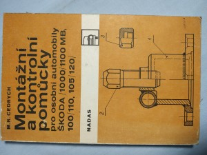náhled knihy - Montážní a kontrolní pomůcky pro automobily Škoda 100 a Škoda 1000 MB