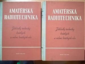 náhled knihy - Amatérská radiotechnika I a II : Základy techniky krátkých a velmi krátkých vln