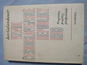 náhled knihy - Vznik Československé republiky 1918 : programy, projekty, perspektivy