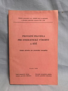 náhled knihy - Provozní Pravidla Pro Energetické Výrobny A Sítě