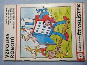náhled knihy - Čtyřlístek: Vzpoura robotů č. 87