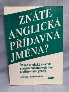 náhled knihy - Znáte anglická přídavná jména? : Česko-anglický slovník spojení podstatných jmen s přídavnými jmény