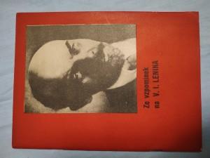 náhled knihy - Ze vzpomínek na V. I. Lenina