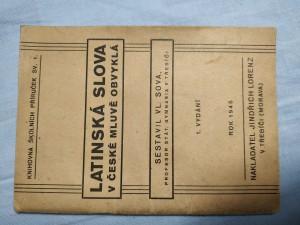 náhled knihy - Latinská slova v české mluvě obvyklá