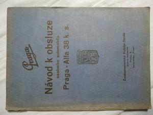 náhled knihy - Návod k obsluze nákladního automobilu Praga - Alfa 38 k. s.