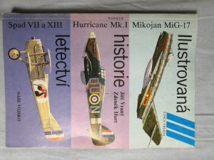 náhled knihy - Ilustrovaná historie letectví : Mikojan MiG-17 ; Hawker Hurricane Mk. I ; Spad S VII