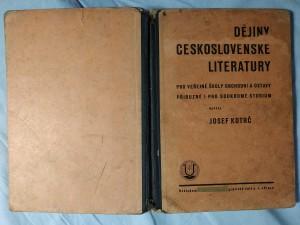 náhled knihy - Dějiny československé literatury pro veřejné školy obchodní, ústavy příbuzné i pro soukromé studium