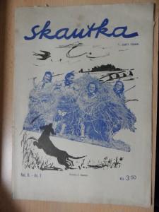 náhled knihy - Skautka : časopis pro světlušky a skautky (Roč. II., čís. 1, 1946)