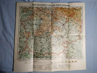 náhled knihy - Mapa politického a školního okresu Jičínského.