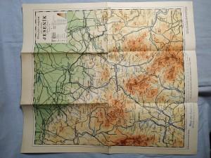 náhled knihy - Příruční mapka politického okresu Jeseník