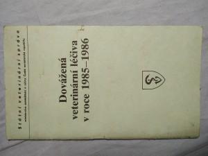 náhled knihy - Dovážená veterinární léčiva 1985-1986