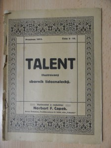náhled knihy - Talent : Sborník praktického lidoznalství (Číslo 9-10., prosinec 1912)