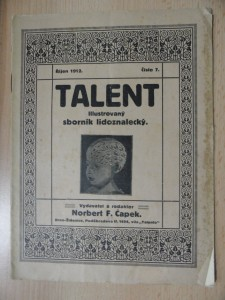 náhled knihy - Talent : Sborník praktického lidoznalství (Číslo 7., říjen 1912)
