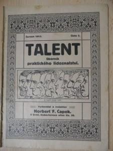 náhled knihy - Talent : Sborník praktického lidoznalství (Číslo 5., červen 1912)