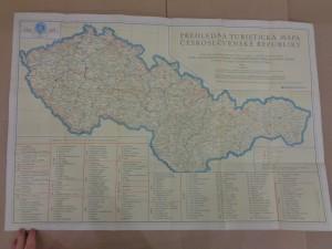 náhled knihy - Přehledná turistická mapa Československé republiky